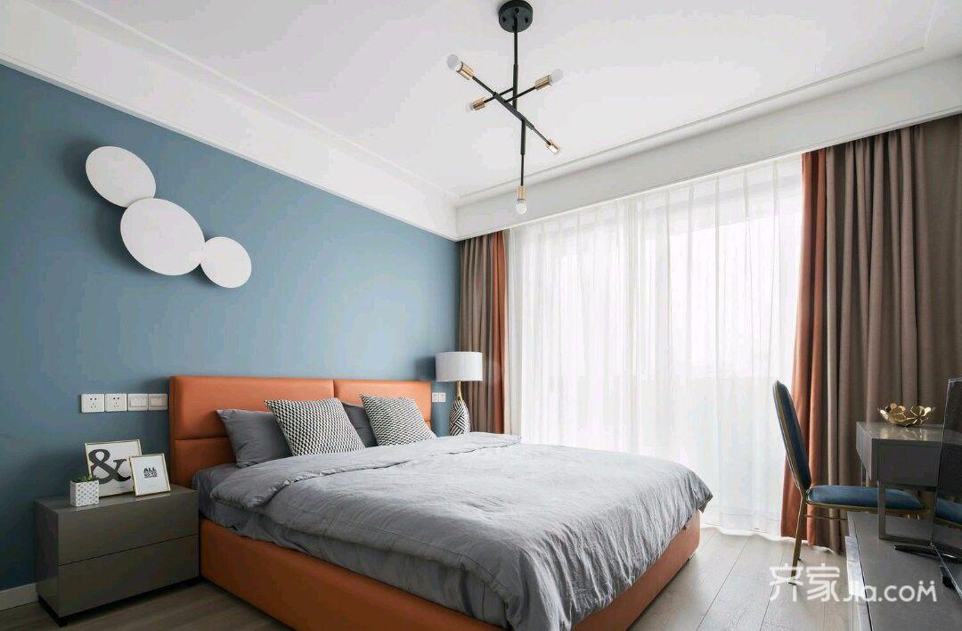 100㎡简约三居室装修卧室设计图
