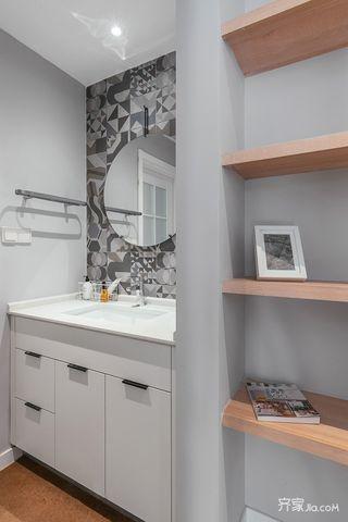 宜家风格二居浴室柜装修设计效果图