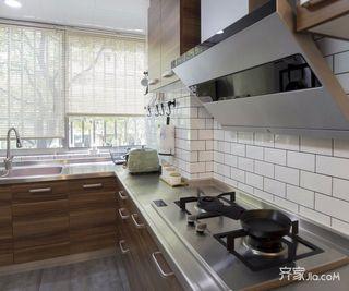 现代简约风格二居装修厨房构造图