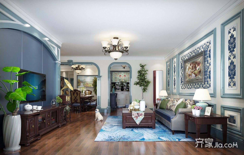 大户型美式客厅装修效果图