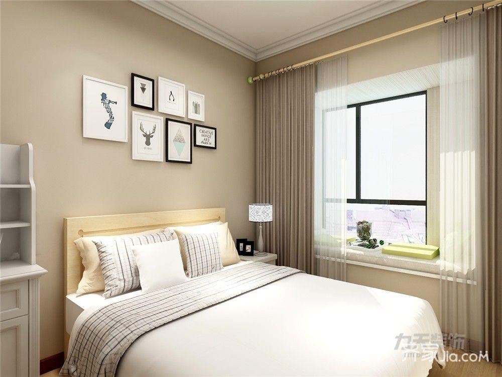 85㎡现代简约二居卧室背景墙装修效果图