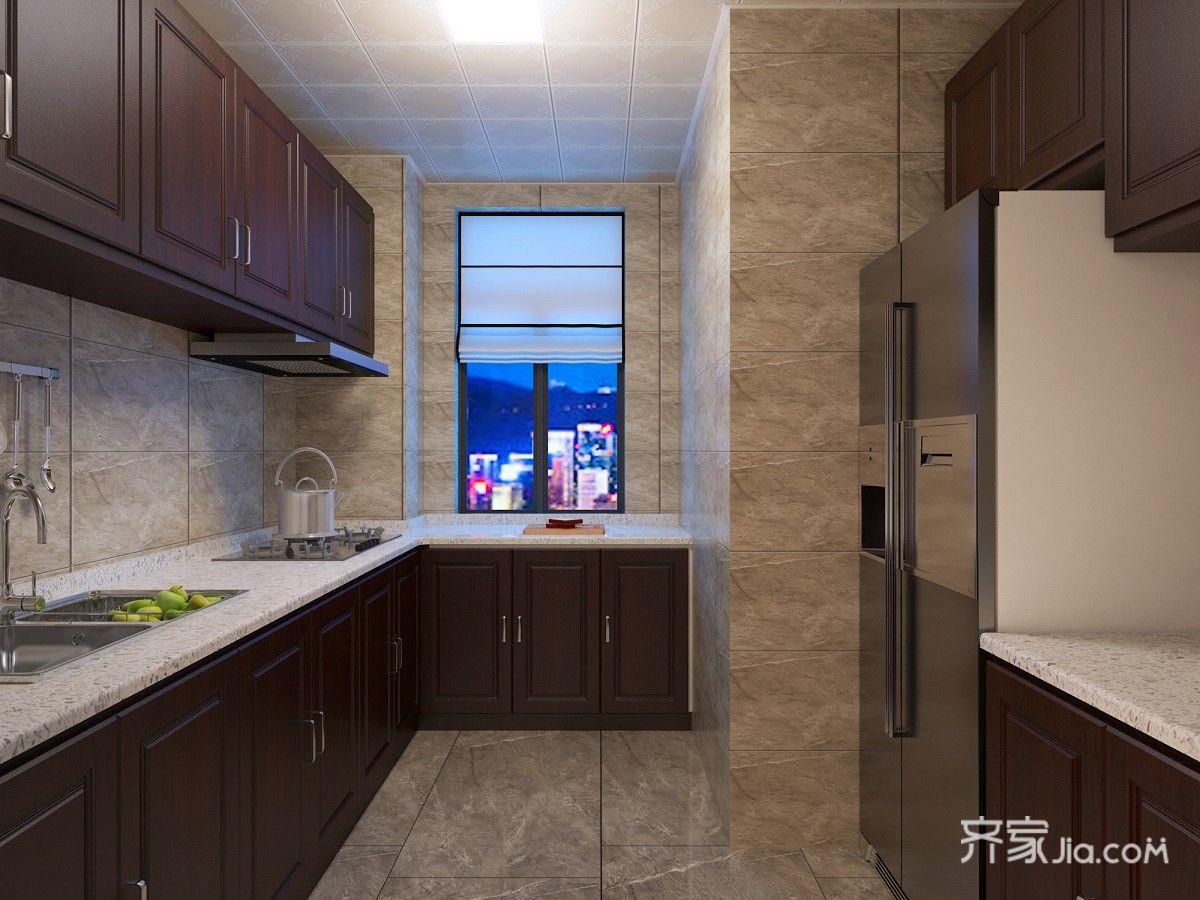 130平米美式风格厨房装修效果图