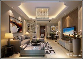 112平现代风格三居装修效果图