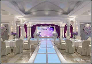 欧式风格婚礼堂T台装修效果图