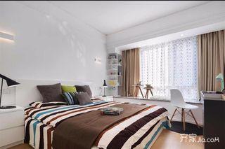 三居室简约风格装修卧室设计图