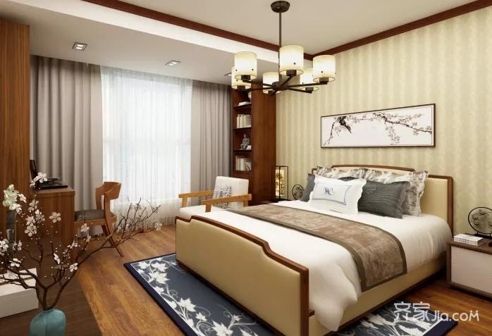 一居室新中式风格卧室装修效果图