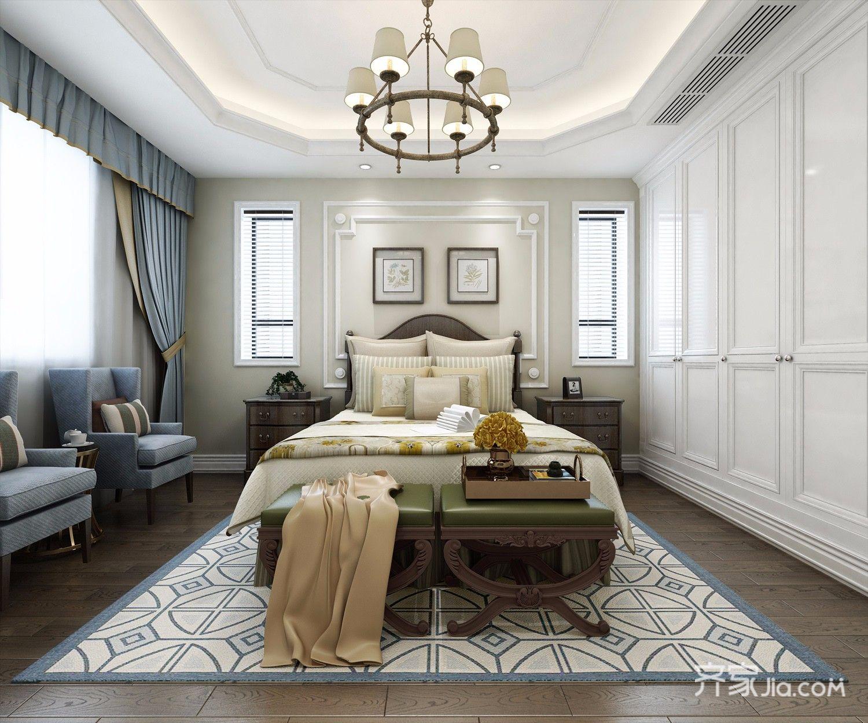 大户型美式别墅装修卧室搭配图