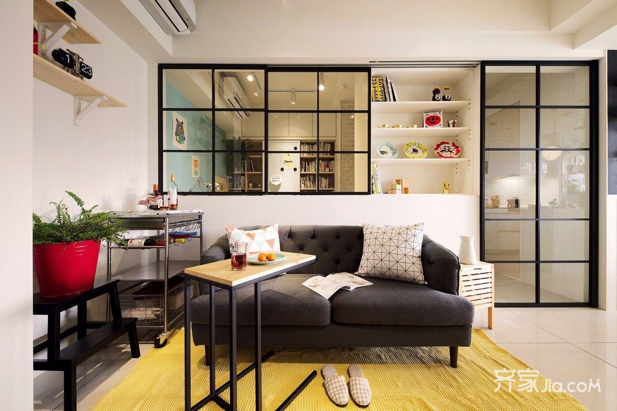 50㎡小户型公寓装修客厅布置图