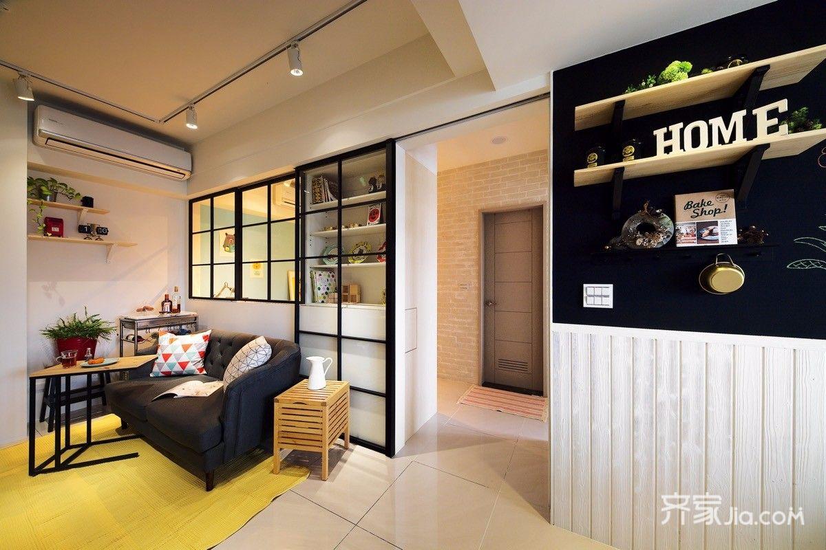 50㎡小户型公寓装修黑板墙设计图