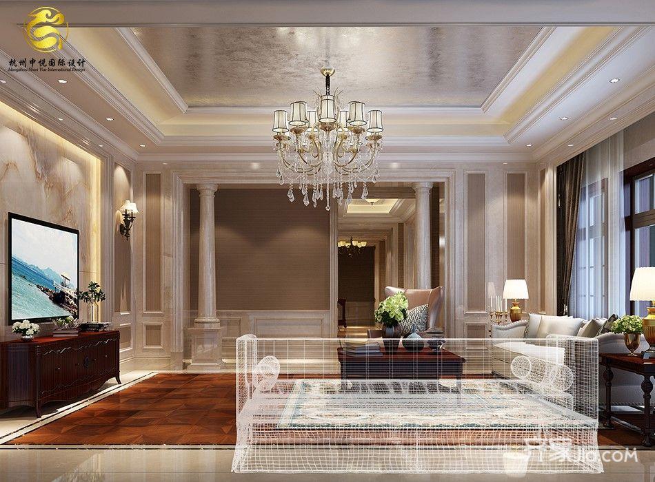 欧式风格豪华别墅客厅装修效果图