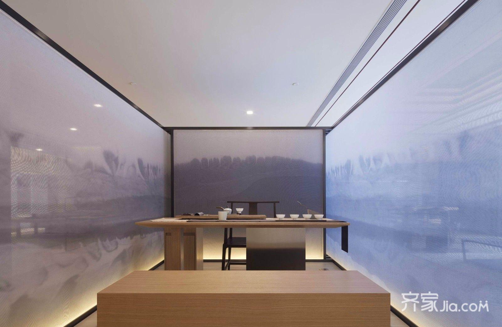 新中式风格茶室装修效果图