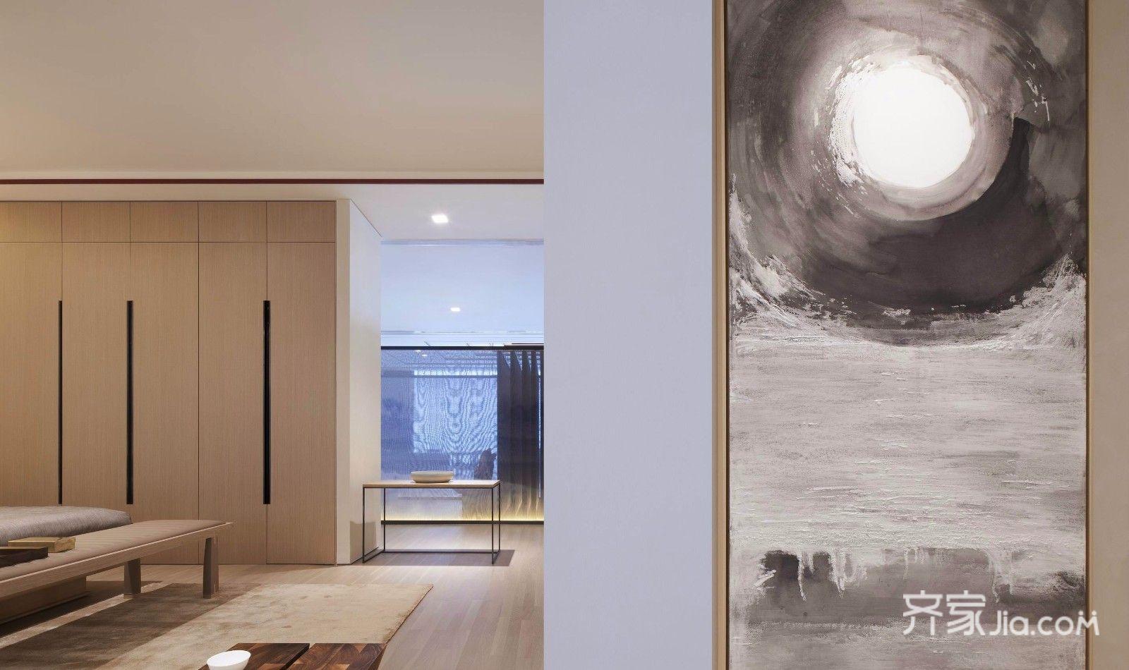 新中式风格装修卧室一角