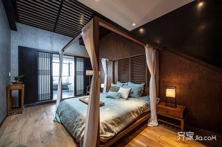 新中式风格别墅装修卧室效果图