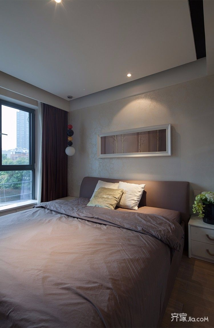 114平米现代风格装修卧室搭配图