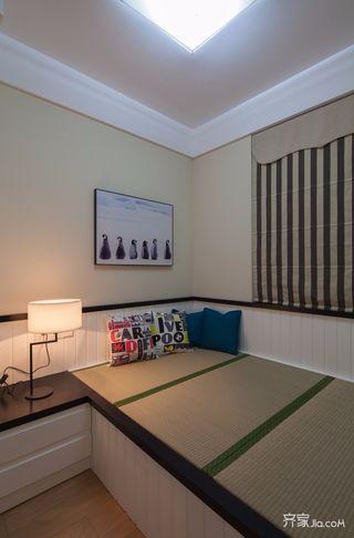 112平现代简约三居装修榻榻米设计图