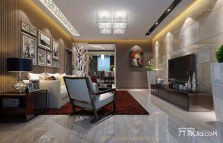 100平现代简约两居装修效果图