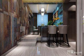 100平现代简约两居装修吧台效果图