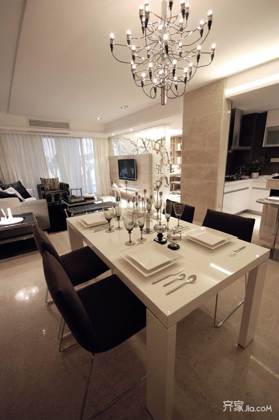 现代风格三居之家餐桌设计图