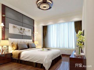 新中式风格四居装修卧室效果图