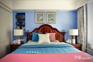 大户型美式风格四房装修卧室背景墙设计图