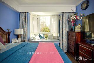 大户型美式风格四房装修飘窗设计图