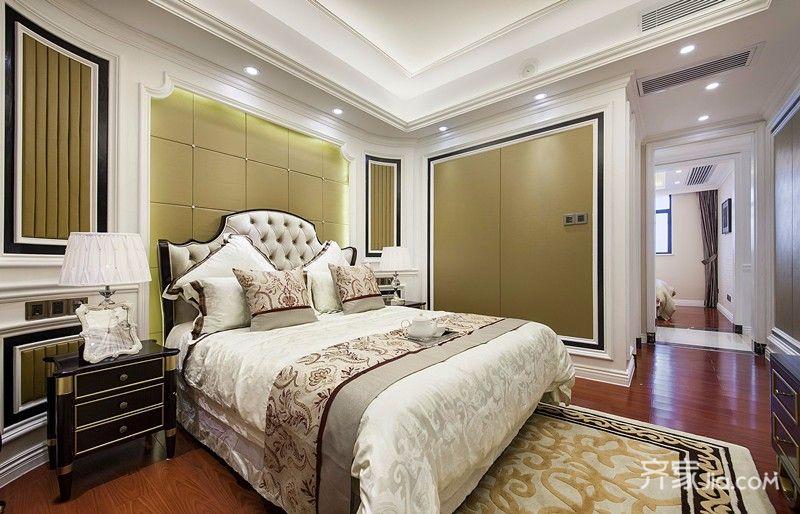 大户型欧式风格四房卧室背景墙装修效果图