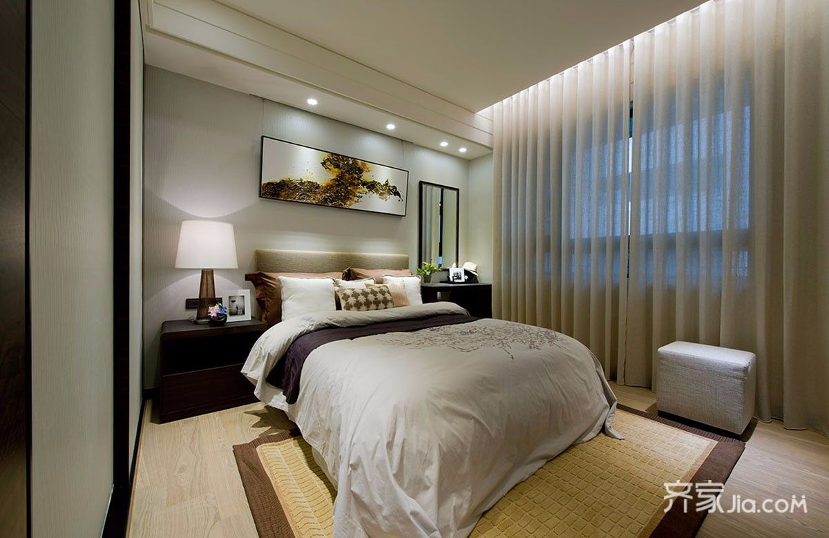三居室新中式卧室装修效果图