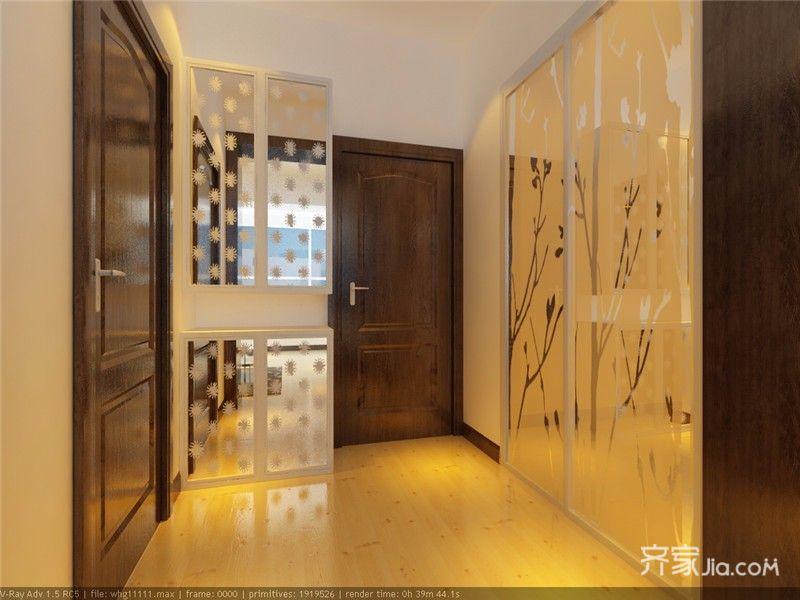 45㎡一居室小户型玄关装修效果图