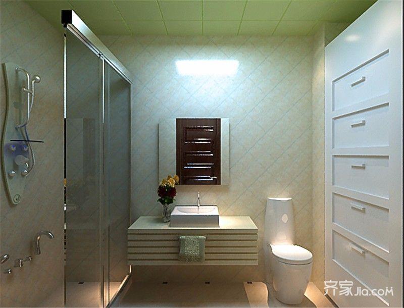 45㎡一居室小户型卫生间装修效果图