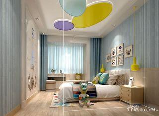 124平简约风格三居儿童房装修效果图