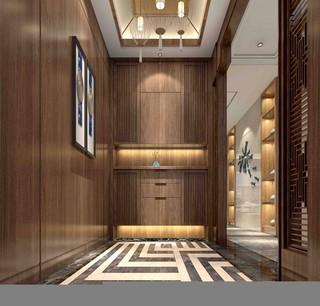三居室新中式风格玄关装修效果图