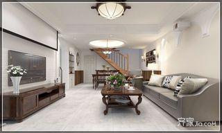 复式简美风格二居客厅装修效果图