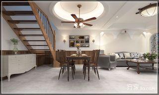 复式简美风格二居装修楼梯效果图