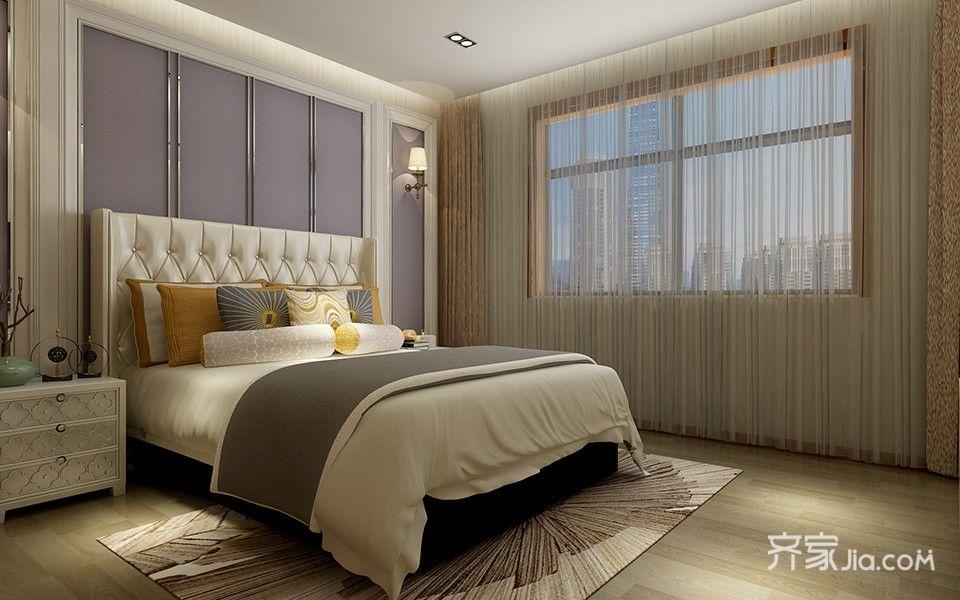 260平现代风格别墅卧室背景墙装修效果图