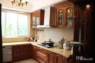 复式简美风格二居装修厨房设计图