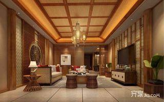 东南亚风格别墅客厅装修设计效果图