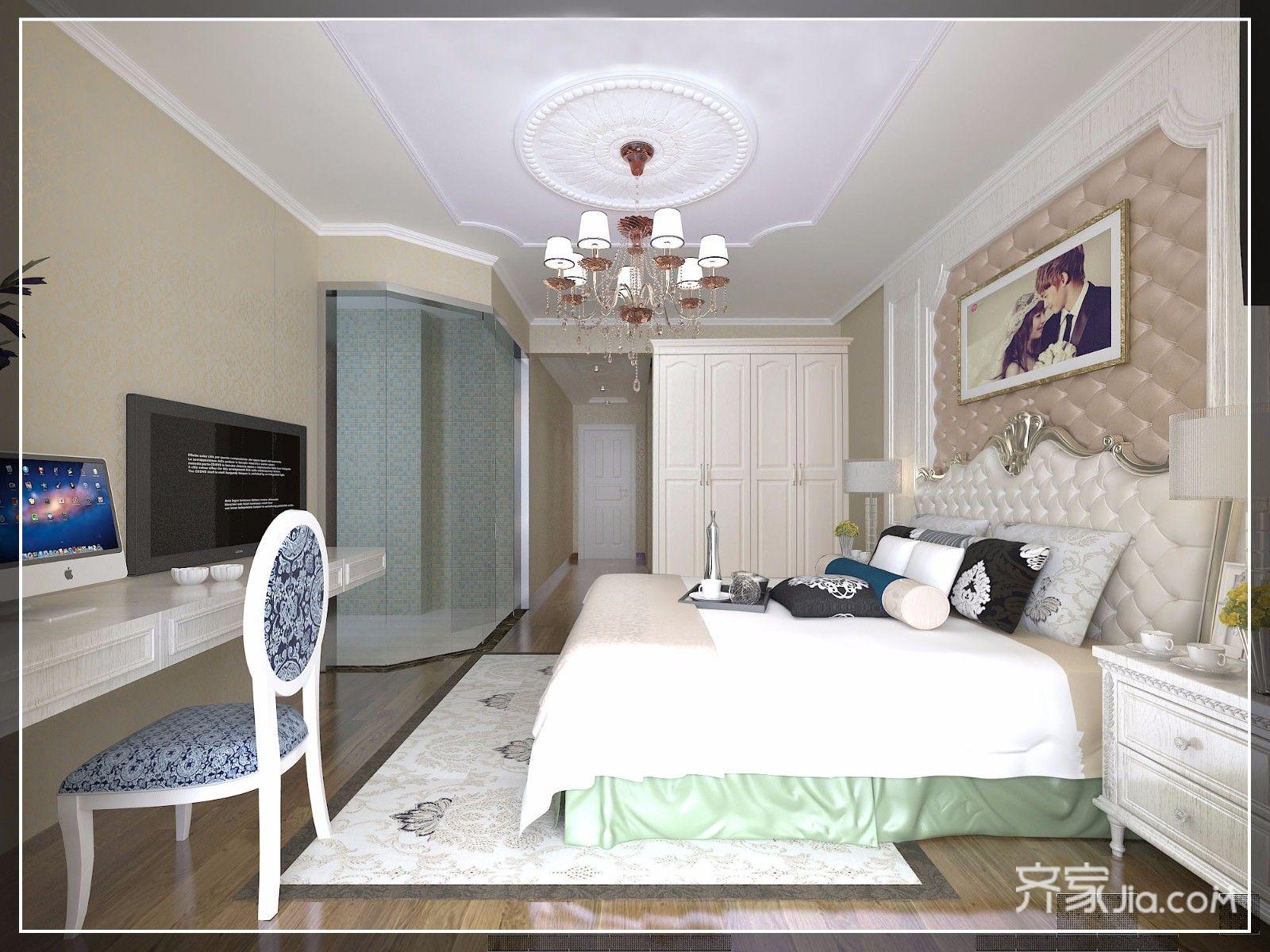 现代欧式风格四房卧室装修效果图