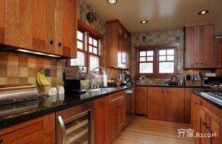 东南亚风格别墅厨房装修设计效果图