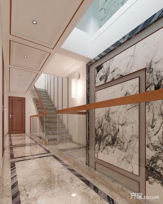 大户型中式别墅楼梯装修效果图