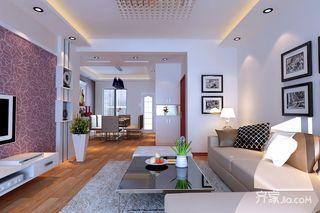 三居室简约风格客餐厅装修效果图