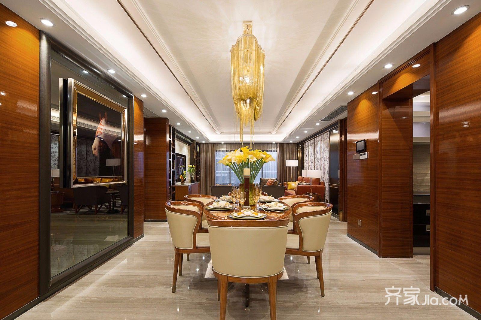 现代三居装修餐厅效果图