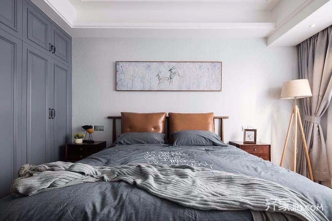 140平简约风格四房装修床品搭配图
