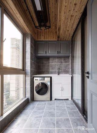 140平简约风格四房装修阳台设计图