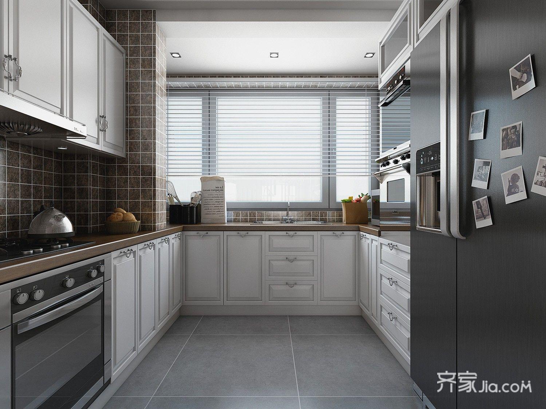 142平现代简约三居厨房装修效果图