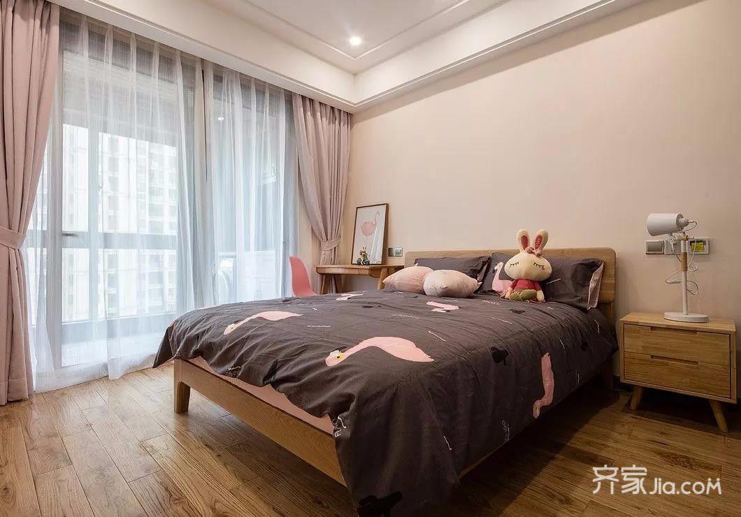 140平简约风格四房装修窗帘设计图