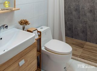 130平米日式风格装修卫生间设计图