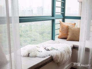 140平美式风格四房装修飘窗效果图