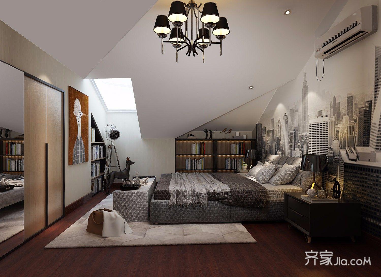 现代风格四房装修卧室设计效果图