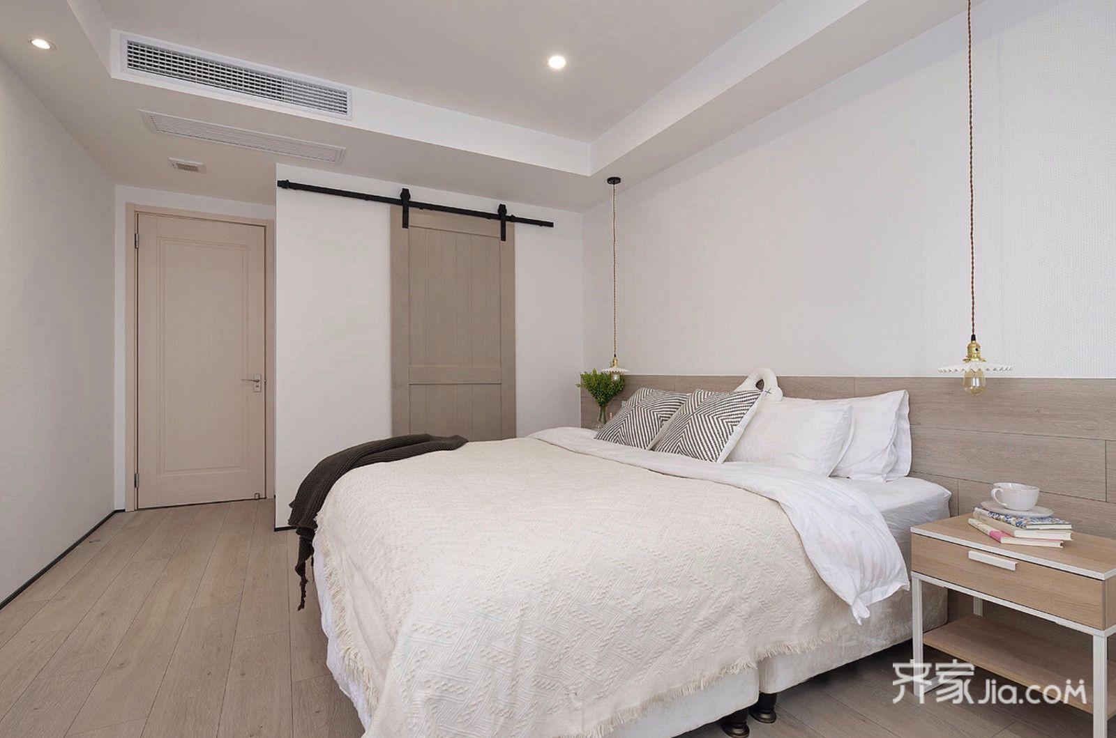150平简约三居室装修谷仓门设计图