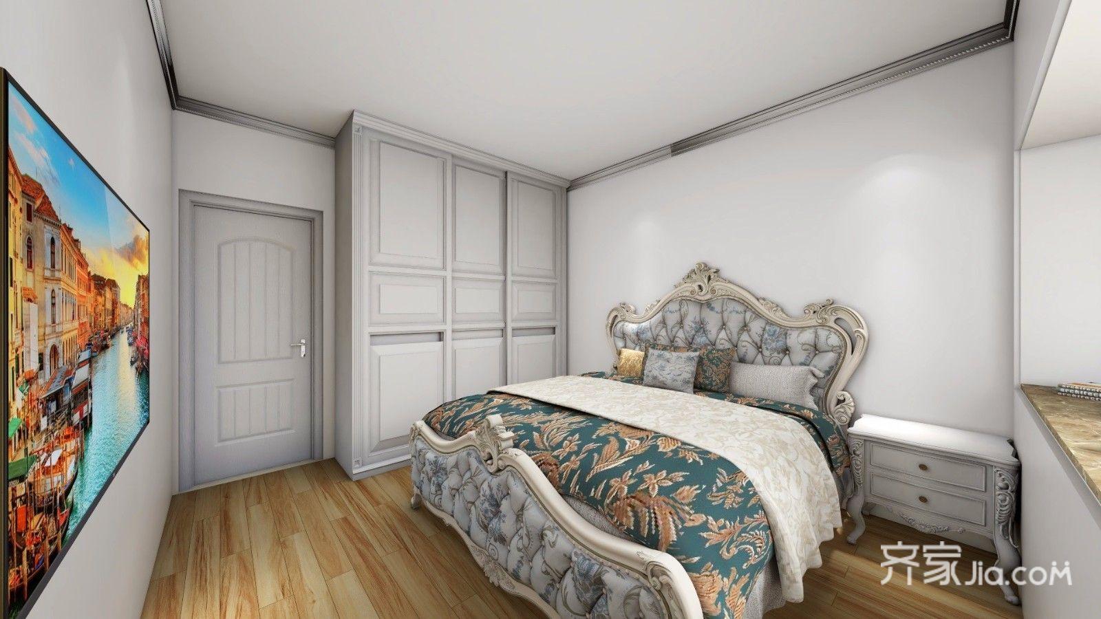 98平欧式三居室卧室装修效果图